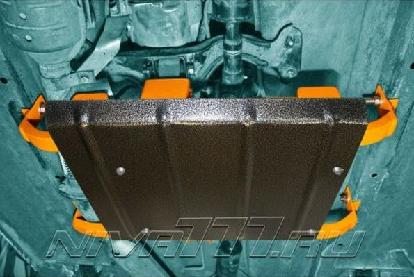 Установка подрамника раздаточной коробки (РК) с тремя опорами на Ниву (2)