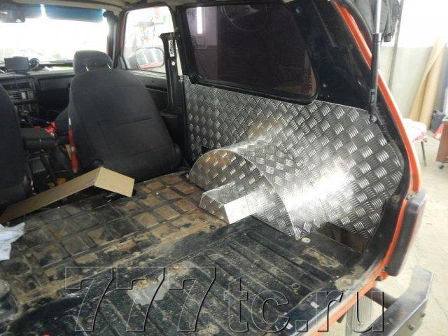 Техцентр Нива777 наши работы: Нива 2131 алюминий в багажник (8)