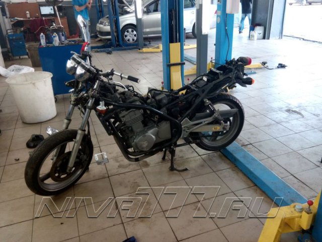 Техцентр Нива777 наши работы: Мотоцикл в раптор (6)