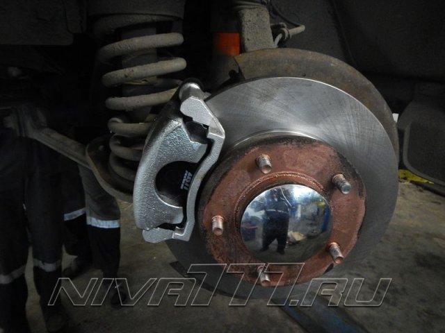 Передние вентилируемые тормоза на Ниву (3)