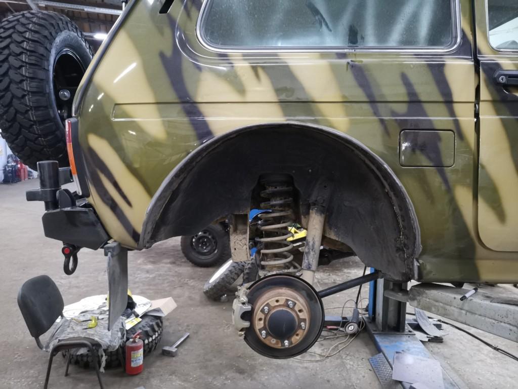Доработка кузова (резка арок) Нивы для установки 31-х колес (3)