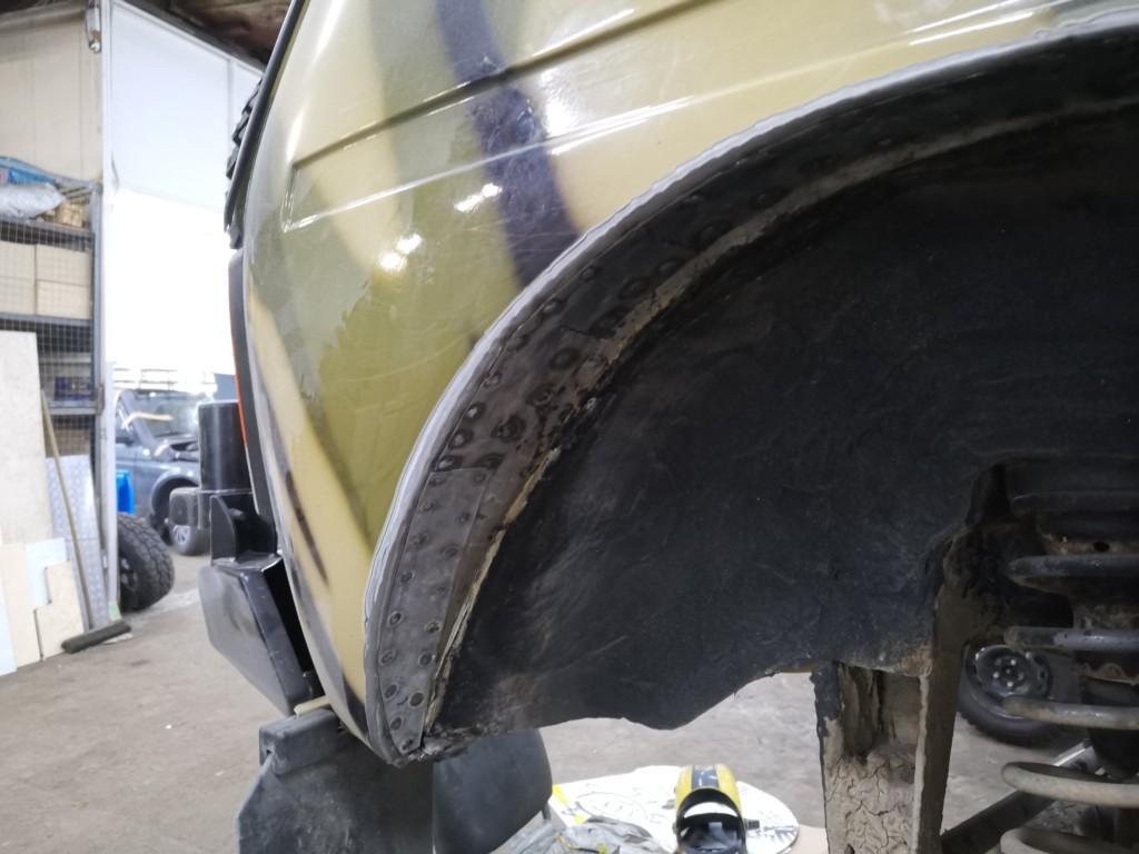 Доработка кузова (резка арок) Нивы для установки 31-х колес (4)